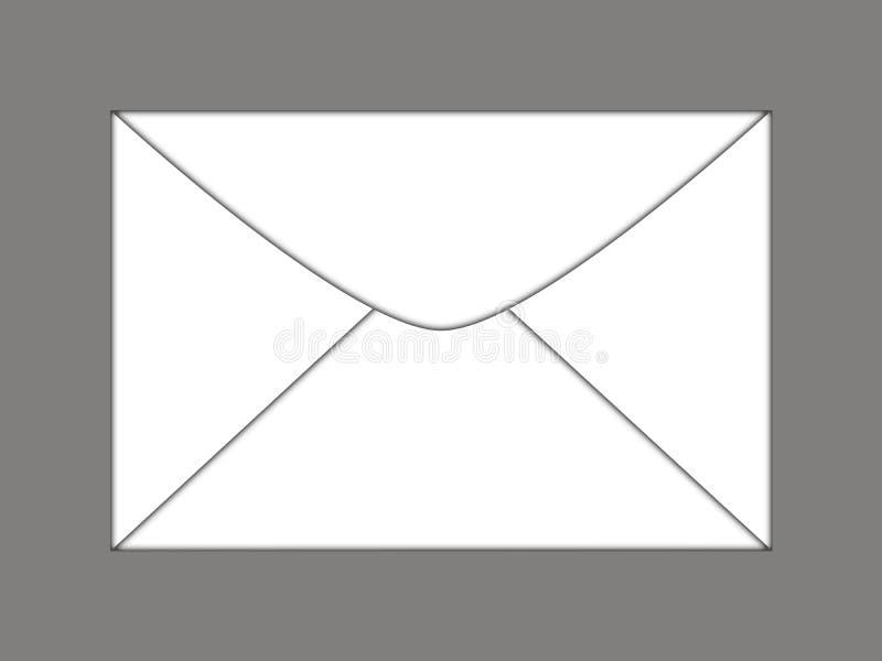 Ajuste dos envelopes no fundo branco ilustração stock