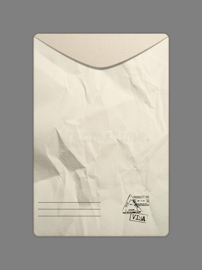 Ajuste dos envelopes no fundo branco ilustração do vetor