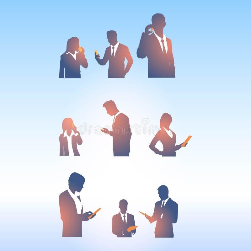 Ajuste dos executivos com vetor do projeto do logotipo do dispositivo ilustração stock