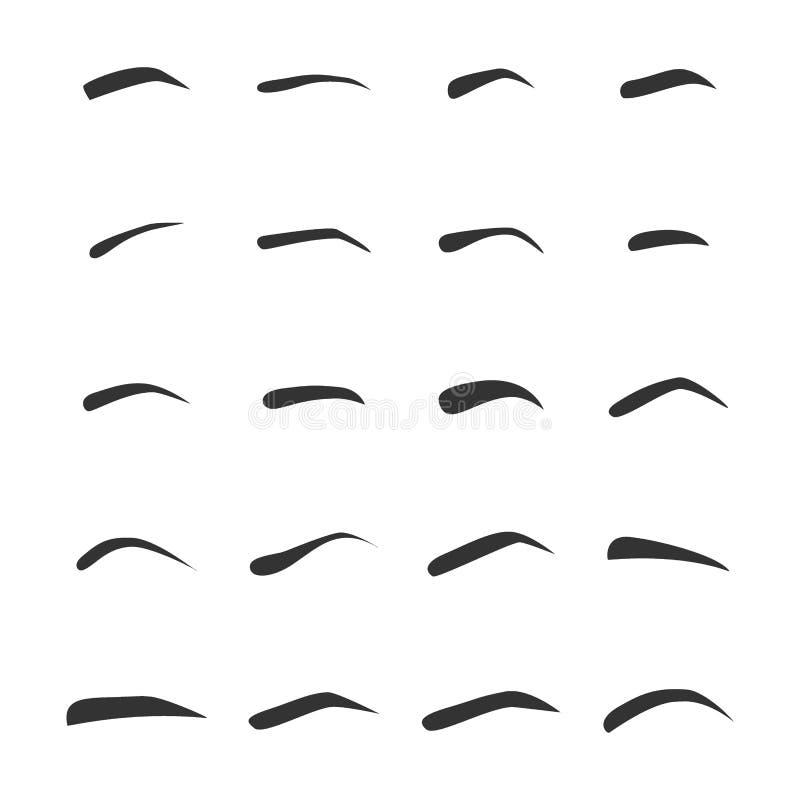 Ajuste dos femaleeyebrows esquerdos foto de stock royalty free