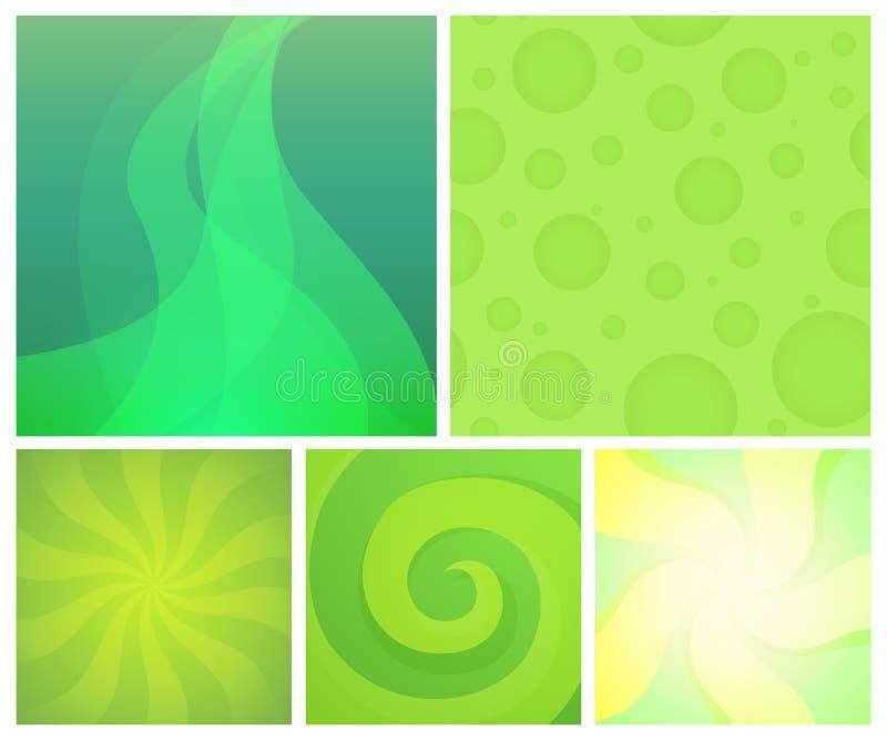 Ajuste dos fundos abstratos - projeto do elemento do vetor com o papel de parede brilhante colorido ilustração stock