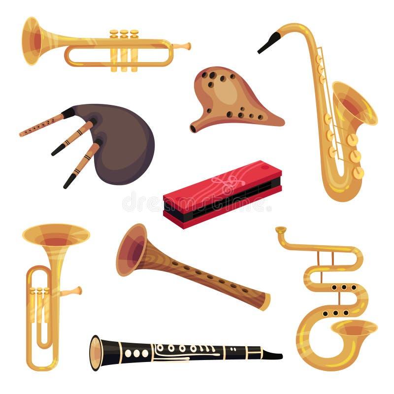 Ajuste dos instrumentos tradicionais e clássicos do perfume Ilustra??o do vetor no fundo branco ilustração royalty free
