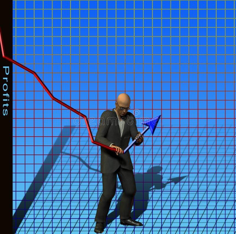 Ajuste dos lucros ilustração stock