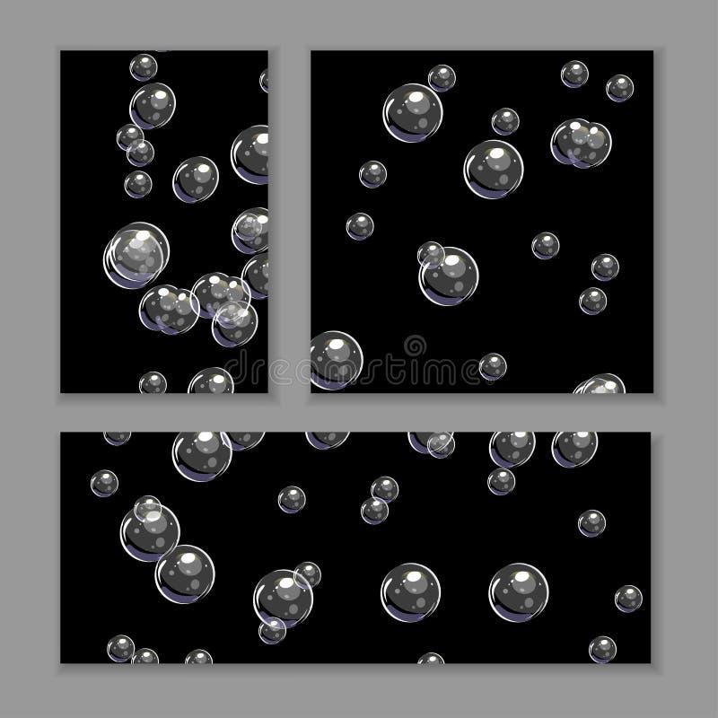 Ajuste dos v?rios fundos da bolha Molde do vetor isolado no cinza ilustração do vetor