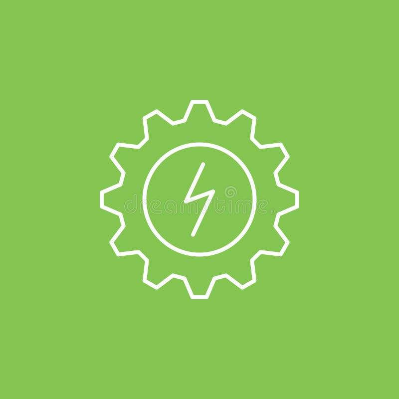 Ajuste, eco, icono de la iluminación - vector Ejemplo simple del elemento del concepto de UI Ajuste, eco, icono de la iluminación ilustración del vector