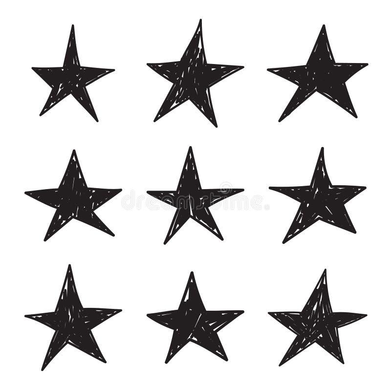 Ajuste a estrela tirada m?o ilustração do vetor