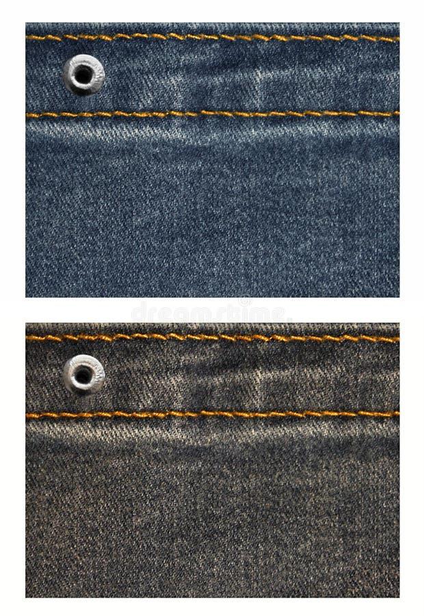 Ajuste etiquetas das calças de brim fotos de stock royalty free