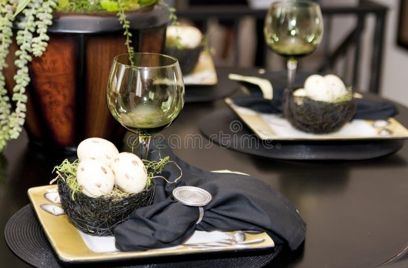 Ajuste extravagante da tabela de jantar imagens de stock