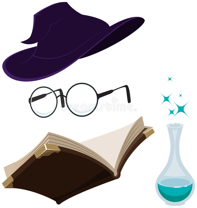 Ajuste ferramentas mágicas ilustração royalty free