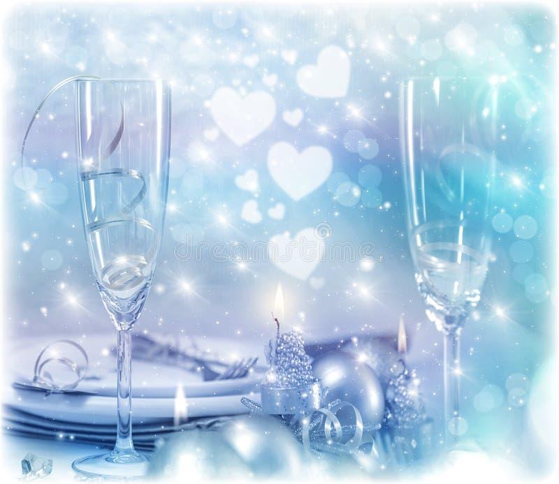 Ajuste festivo de la tabla imagenes de archivo