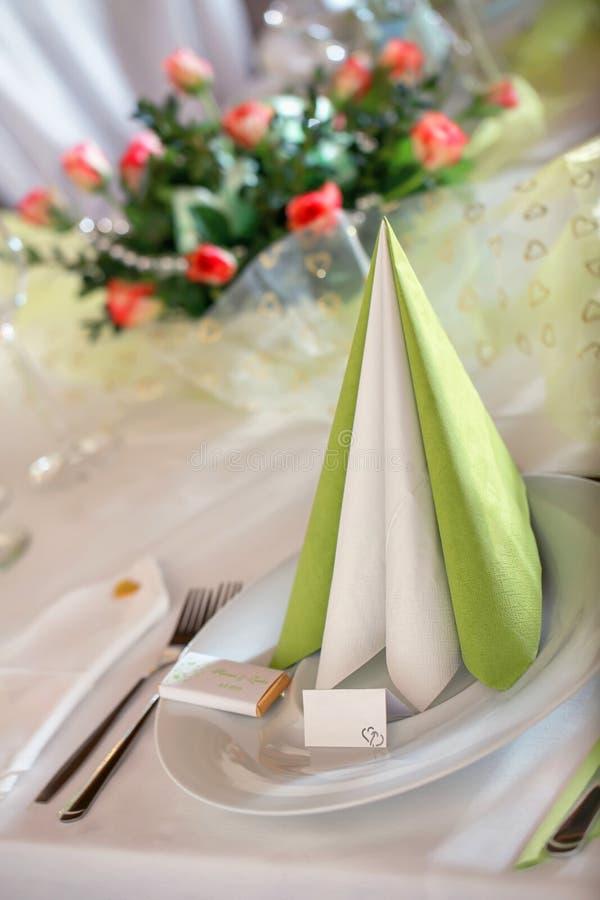 Ajuste festivo de la tabla foto de archivo libre de regalías