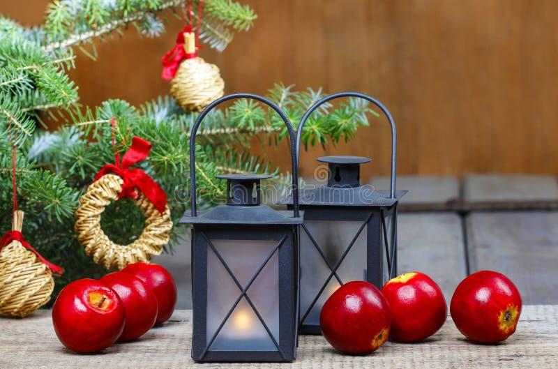 Ajuste hermoso de la Navidad foto de archivo libre de regalías