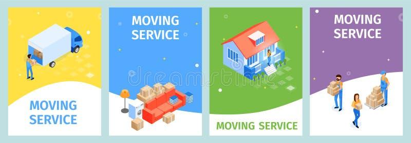 Ajuste a ilustração móvel do vetor do serviço da bandeira ilustração royalty free