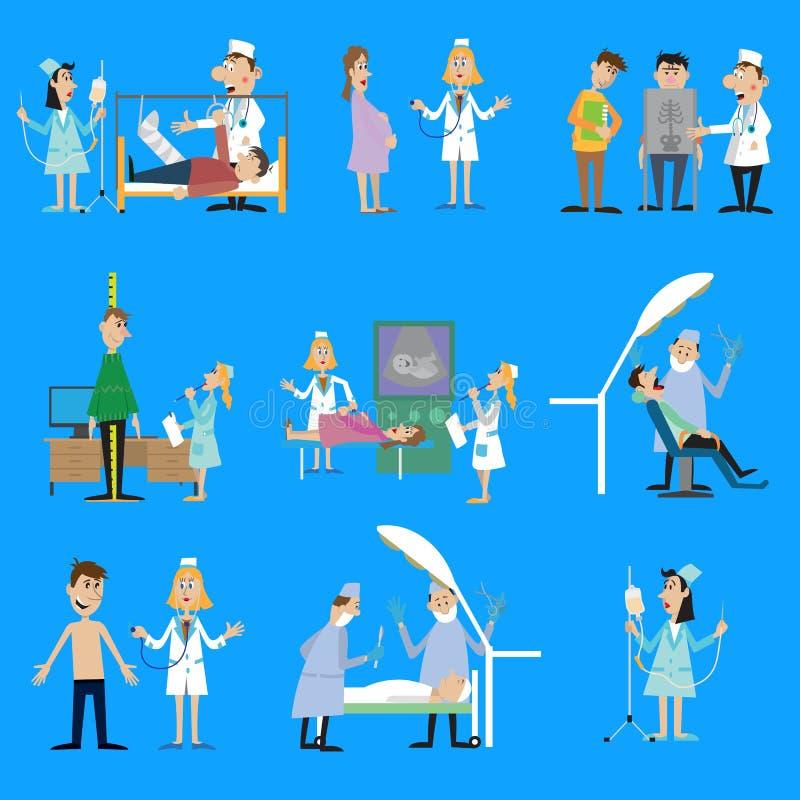 Ajuste a ilustração no tema da saúde ilustração royalty free