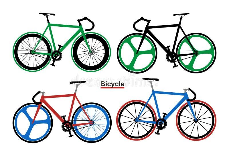 Ajuste a imagem do vetor das bicicletas ilustração stock