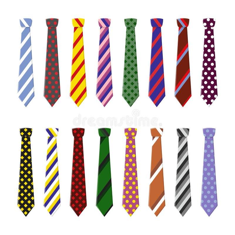 Ajuste laços do pescoço para o negócio e o vestuário ocasional ilustração stock