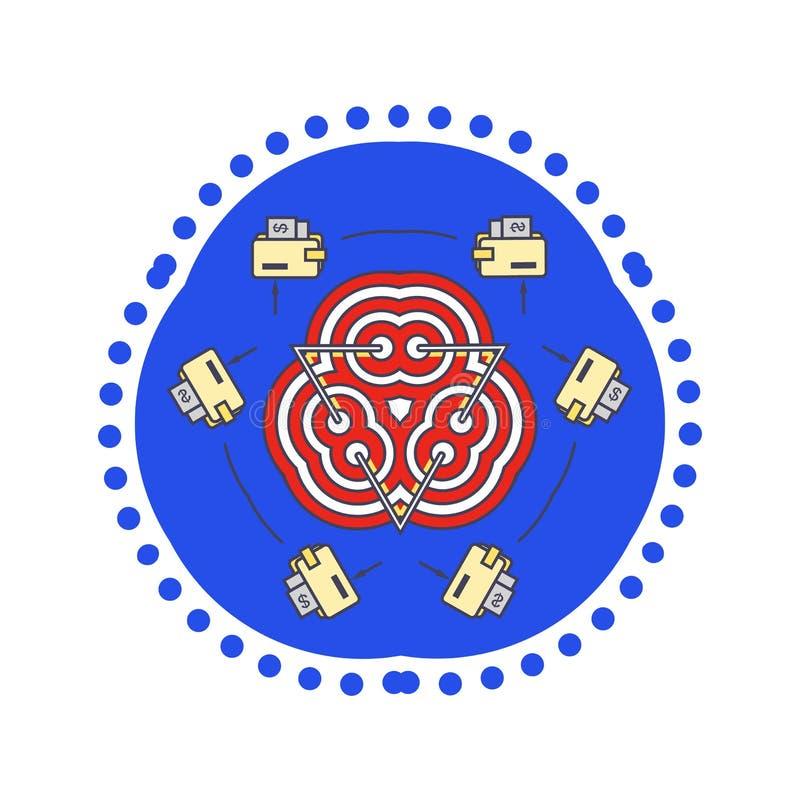 Ajuste liso do objetivo do projeto do estilo do ícone ilustração royalty free