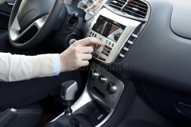 Ajuste moderno del interior del coche imágenes de archivo libres de regalías