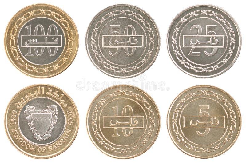 Ajuste moedas Barém imagem de stock