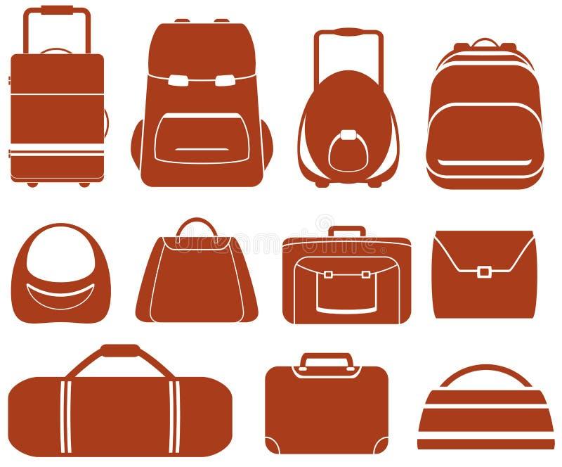 Ajuste o saco isolado vermelho ilustração royalty free