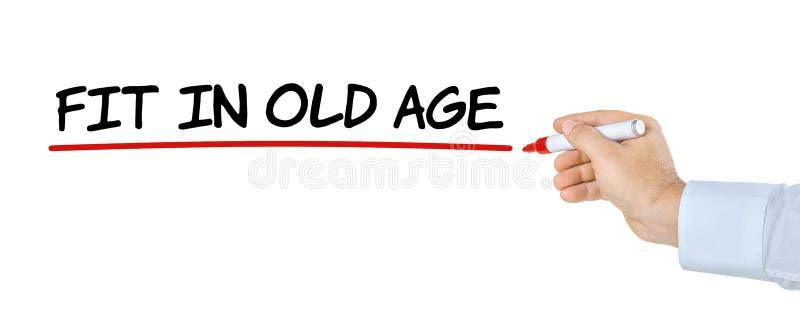 Ajuste na idade avançada foto de stock