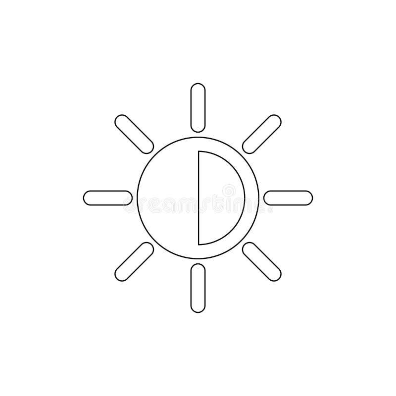Ajuste o ícone do esboço do contraste Os sinais e os s?mbolos podem ser usados para a Web, logotipo, app m?vel, UI, UX ilustração do vetor