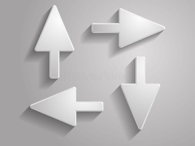 Ajuste o ícone do vetor da ilustração das setas imagens de stock
