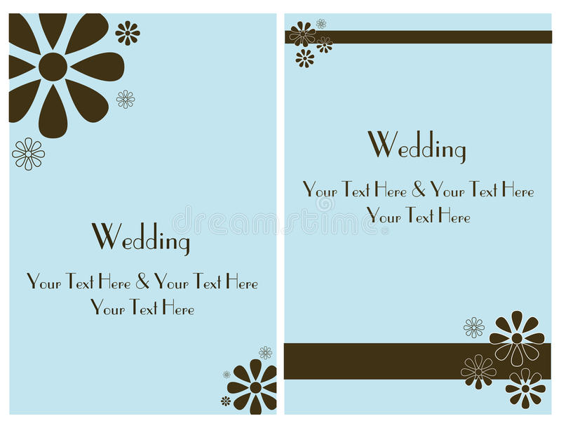 Ajuste o cartão 2 do convite do casamento ilustração do vetor