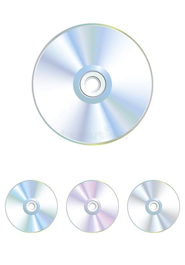 Ajuste o CD varicoloured do vetor, disco de DVD ilustração do vetor