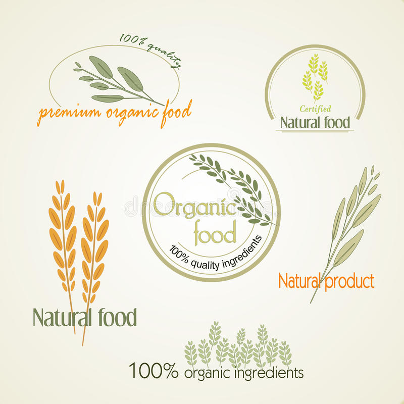 Ajuste o logotipo para alimentos orgânicos, vetor ilustração do vetor