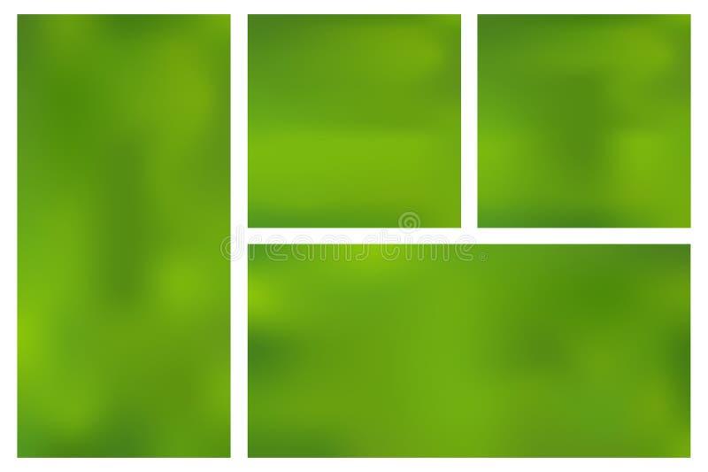 Ajuste o molde fundo verde horizontal, vertical, quadrado do inclinação da malha ilustração royalty free