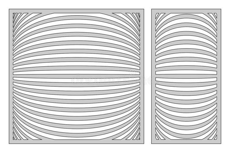 Ajuste o molde para cortar Linha teste padrão de 3D Corte do laser 1:1 da relação, ilustração royalty free