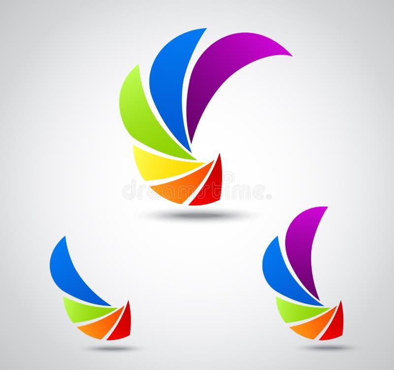 Ajuste o negócio do logotipo. obturador colorido ilustração do vetor