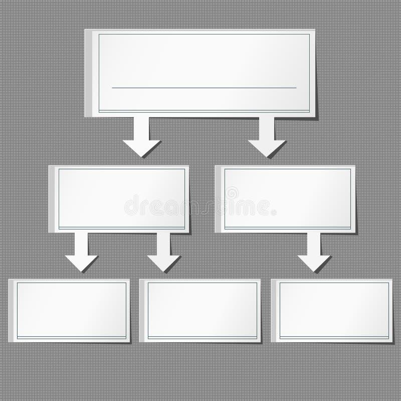 Ajuste o papel gráfico da informação de vetor do fundo cinzento ilustração stock