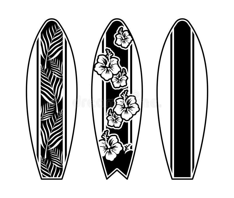 Ajuste o projeto da cópia da prancha para surfar ilustração do vetor