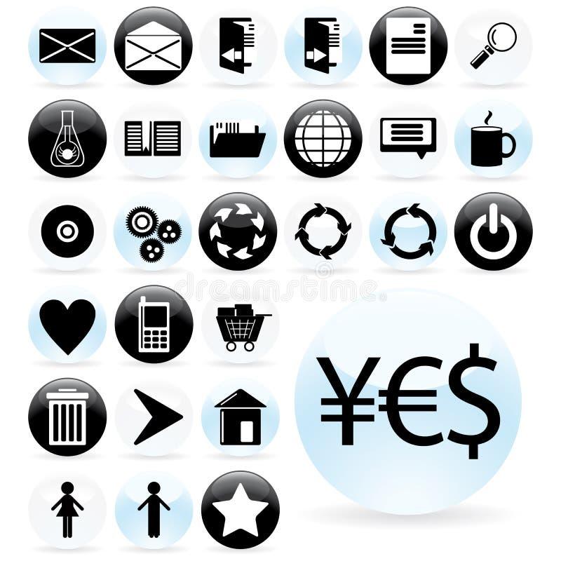 Ajuste o projeto de Web do ícone ilustração royalty free