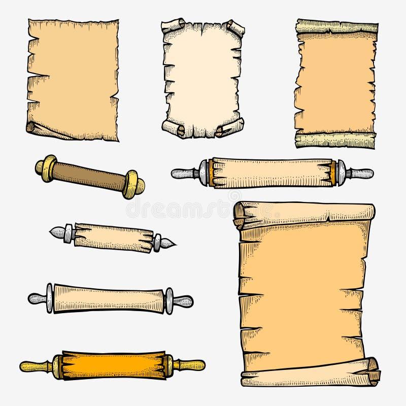 Ajuste o rolo isolado no fundo branco ilustração do vetor
