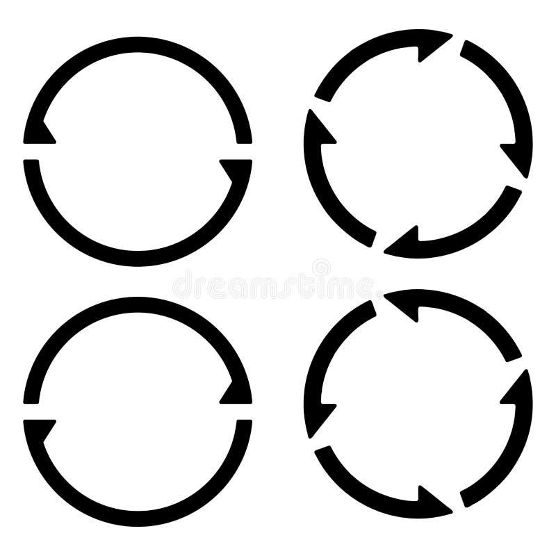 Ajuste o sinal recarregam refrescam o ícone, girando setas em um círculo, sincronização do símbolo do vetor, moeda cripto renováv ilustração royalty free