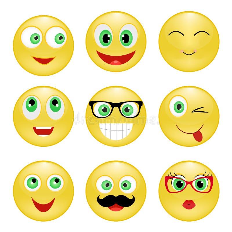 Ajuste o smiley ilustração stock