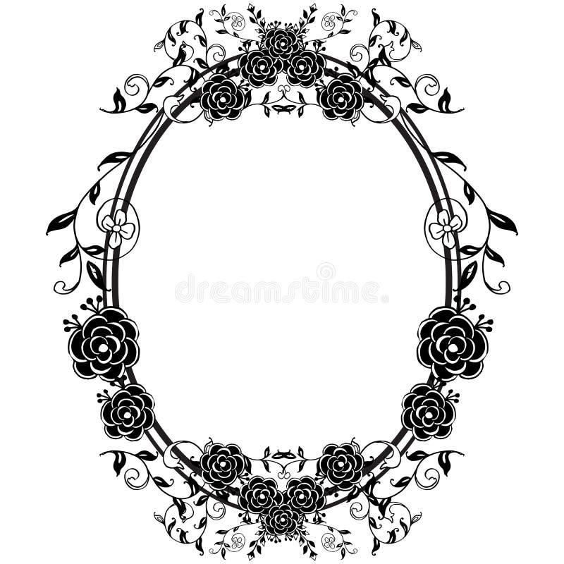 Ajuste o sumário para o quadro floral, ornamento bonito, para o projeto de vários cartões Vetor ilustração do vetor