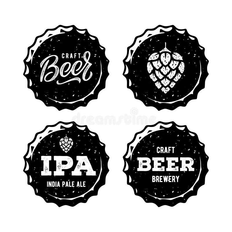 Ajuste o tampão da cerveja branco para a casa da cerveja Ilustração do vetor ilustração do vetor