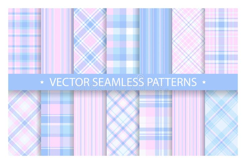 Ajuste o teste padrão da manta sem emenda Textura da tela dos testes padrões da tartã Fundo geométrico quadriculado do vetor ilustração do vetor