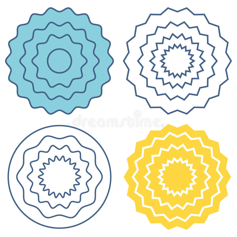 Ajuste o teste padrão de onda do círculo ilustração do vetor