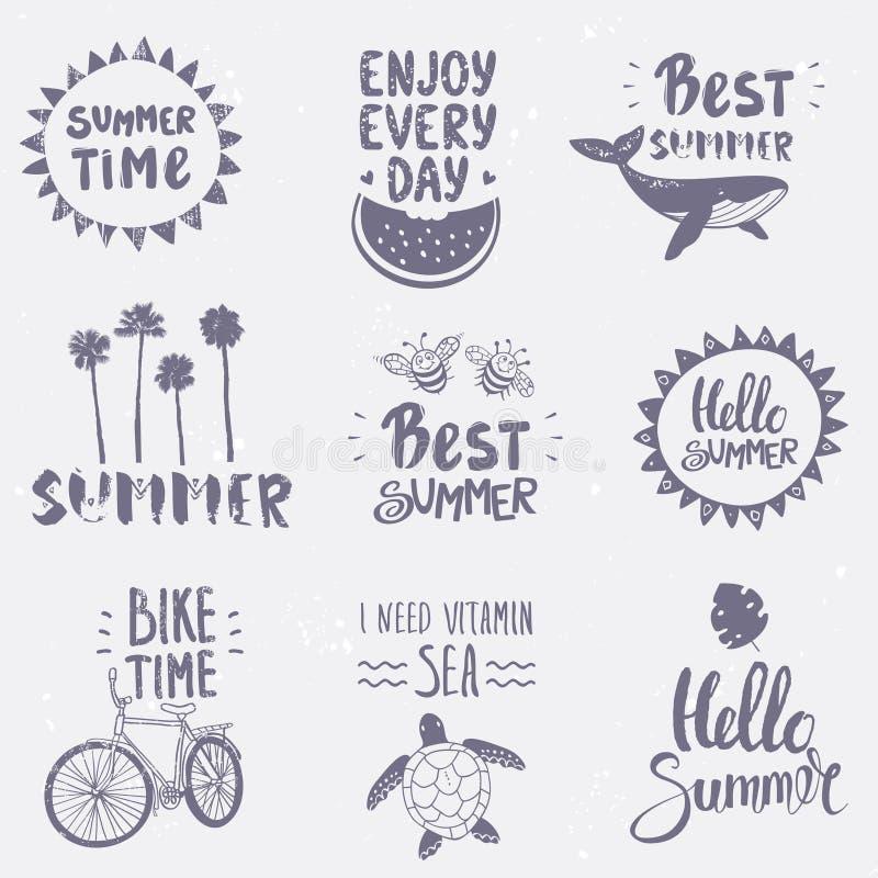 ajuste o verão ilustração royalty free