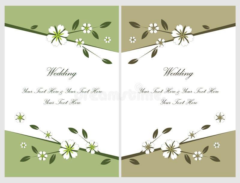 Ajuste os cartões 5 do convite do casamento ilustração stock