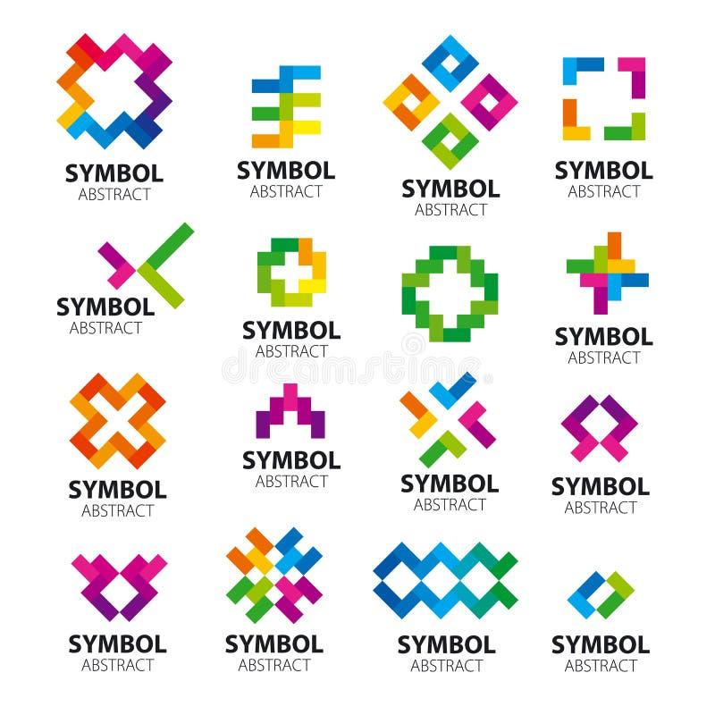 Ajuste os módulos dos logotipos do vetor ilustração royalty free