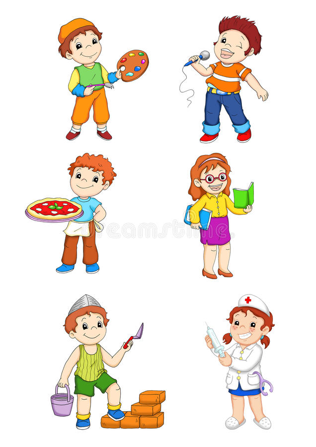 Ajuste os trabalhadores 1 ilustração stock