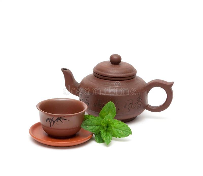 Ajuste para a cerimónia de chá imagem de stock