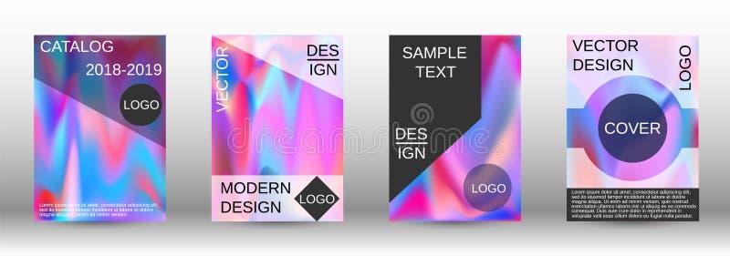 Ajuste para o líquido Fundos abstratos holográficos ilustração stock