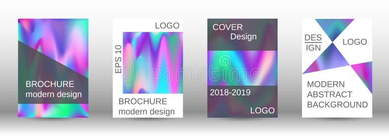 Ajuste para o líquido Fundos abstratos holográficos ilustração royalty free